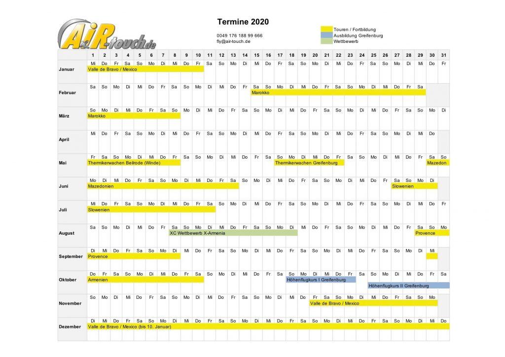 AiR-touch Kalender 2020